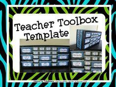 Teacher Toolbox Template - Editable ($)