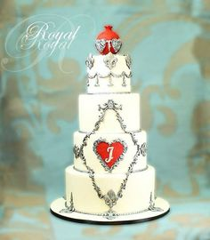 Royal Vintage Cake Pomegranate on the top it give a royal shape and the scroll look with old silver 4 tiers vanilla cake and vanilla butter cream Cake by BouquetCakes Gorgeous Cakes, Pretty Cakes, Amazing Cakes, Big Wedding Cakes, Wedding Cupcakes, Tall Cakes, Cake Toppings, Fancy Cakes, Love Cake