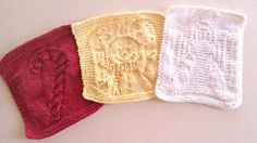 Knitted Christmas Dishcloths Knitted Angel Candy Cane by IDoYarn