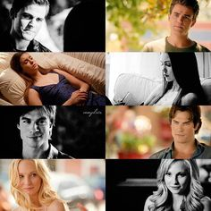 Before and now. They have changed so much over the years. Some characters in better places then others. The Vampire Diaries