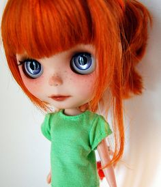 Sweet redhead and she has FRECKLES!!!  :)