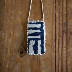 African Mudcloth Textile Talisman Necklace by SeeRealFlowers