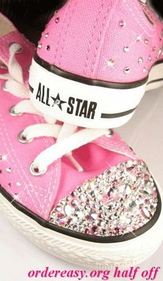 I did Pink converse because Lyric can be girly, but she can also me a carae-free and laid back tom boy