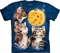 3 Kitten Cheese Moon T Shirt Adult Unisex Mountain