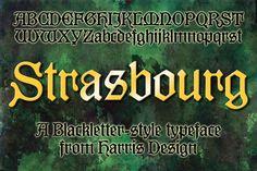 Strasbourg. Blackletter Fonts. $18.00