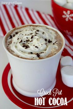 This crock pot hot chocolate is so delicious and easy to make. Plus, I love that everyone can have some and you are not stuck to the microwave making cup after cup! Enjoy!