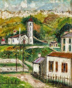 Maurice Utrillo (1883 - 1955) Corsican Landscape