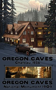 Oregon Caves National Monument and Oregon Caves Chateau make an awesome weekend getaway. (5 hours from Portland.)