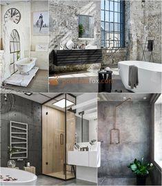 Best Loft Ideas - Loft Interior Design Ideas With Best Photos Brick Bathroom, Loft Bathroom, Bathroom Floor Tiles, White Bathroom, Small Bathroom, Bathroom Ideas, Loft Interior Design, Loft Design, Bathroom Interior Design