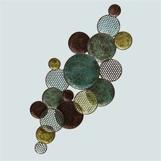 Encompass Circle Wall Sculpture Multi Earth