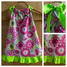 Flowered Summer Dress, size 4t by SewMeems on Etsy