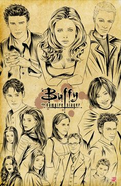 11x17 Buffy the Vampire Slayer by Musetap on Etsy, $9.99