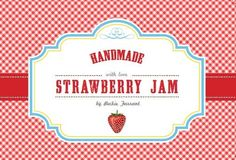 free printables for homemade jam, cookies, ..