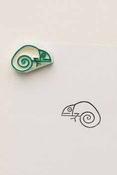 Tiny baby chameleon stamp Funny lizard stationary by WoodlandTale Baby Lizards, Baby Chameleon, Eraser Stamp, Cute Stationary, Stamp Carving, Handmade Stamps, Funny Gifts, Gag Gifts, Tampons