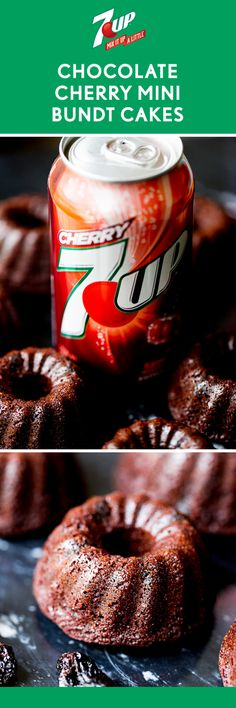 Made with pure cocoa and dried sweet cherries soaked in 7UP® Cherry—it's not hard to see why this recipe for Chocolate Cherry Mini Bundt Cakes is so delicious. Since this moist dessert is made in individual, bite-sized portions, they're perfect for serving up to add your friends and family this summer. And by grabbing all the ingredients you need at Walmart, planning a delicious get-together just got a lot easier.