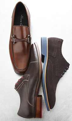 Put a new spin on things (with bits, color, and cool laces)!  Steve Madden Draper, Kenneth Cole Victory at Last, Joseph About Robert from #DSW
