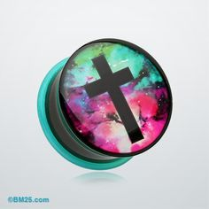 Galaxy Cross Single Flared Ear Gauge Plug. My next purchase :)  UPDATE-bought and love. Only issue is that my ears get extra funky but they do that with any acrylic plugs I wear for more than a few days.