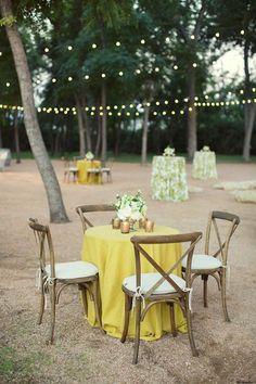 yellow cocktail tables | Sarah Kate Photography