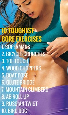 Toughest core exercises that flatten your belly in no time. #fitness #abs #core #workout #health