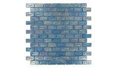 Diamond Tech Glass Tiles - Vista - 3/4 inch x 1 5/8 inch Subway Glass Tile in Fountain Blue - ( TV415 )