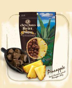 Dark Chocolate Covered Pineapple - http://bestchocolateshop.com/dark-chocolate-covered-pineapple/