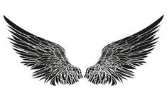 Wings Vector illustration on white background Black and white style Illustration , Eagle Wing Tattoos, Wing Tattoo Men, Wing Tattoos On Back, Wing Tattoo Designs, Leg Tattoos, Small Tattoos, Tattoos For Guys, Sleeve Tattoos, Hals Tattoo Mann