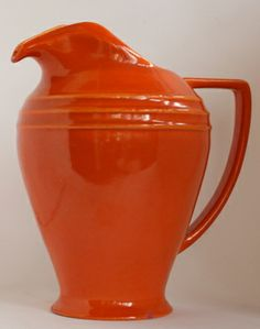 Pacific Hostessware #460 2-qt restyled pitcher in Apache Red