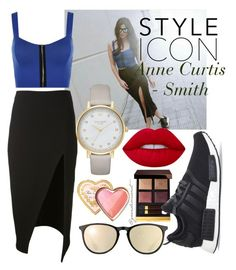 """""""Style Icon: Anne Curtis-Smith  @annecurtissmith  A Filipino Actress."""" by grandiocissist on Polyvore featuring David Koma, Lime Crime, Tom Ford, adidas, Ray-Ban, WearAll, Kate Spade and Too Faced Cosmetics"""