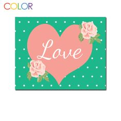 Valentine's Printable Art Valentine's Day Pink by ColorPrintables, $5.00