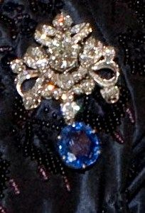 Diamond and sapphire brooch (made with stones from Queen Wilhelmina's Wedding gift parure).
