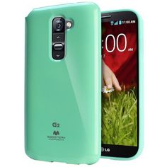Amazon.com: [Mint] Mercury Goospery LG G2 Case [Slim Fit Flexible TPU Jelly] Premium Rugged Anti Shock Protection - [Except Verizon] AT&T, Sprint, T-Mobile, International, and Unlocked - Case for LG Optimus G2 D802 2013 Model: Cell Phones & Accessories