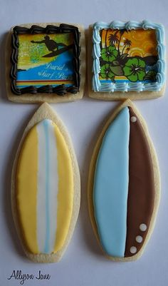 surf board cookie