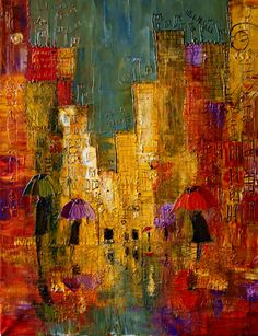 """Saatchi Online Artist Justyna Kopania; Painting, """"Rain..."""" #art. ... This would look good with my grayish couch and dark gray accent wall."""
