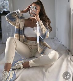Trendy Fall Outfits, Cute Comfy Outfits, Winter Fashion Outfits, Retro Outfits, Simple Outfits, Look Fashion, Stylish Outfits, Spring Outfits, Fashion Tips