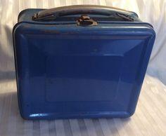 Vintage Lunch Box Only Blue Aladdin Industries Nashville Tenn    eBay