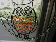 A window ornament wire owl. This is the first owl I have made!