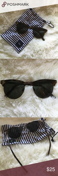 Tortoise club master sunglasses Great pair of sunnies! Round club master style sunglasses from GAP. Includes original sleeve. Worn just once or twice. No scratches. Black/green tint lens.   ↠ No trades  ↠ 15% bundle discount  ↠ Lowball offers are declined  ↠ I ship same or next day  ☞ Follow my Instagram- Seahighmarket GAP Accessories Glasses
