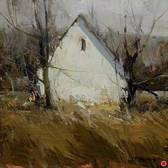 Autumn's Tale by Tibor Nagy Oil ~ 8 x 8
