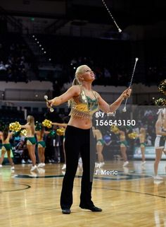 News Photo : majorette of the South Florida Bulls performs...