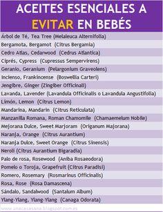 Aceites Esenciales a evitar en bebés - unacasasana.blogspot. com.es