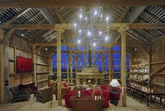 Inside the barn ~ cocktails anyone?