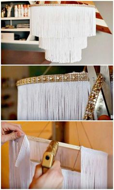 60 Simple DIY Chandelier Ideas That Will Beautify Your Home - DIY . 60 Simple DIY Chandelier Ideas That Will Beautify Your Home – DIY & Crafts – – # diymöbel Source by diy_mobeltoday Diy Home Decor Projects, Easy Home Decor, Diy Home Crafts, Decor Ideas, Decorating Ideas, Decor Crafts, Decor Diy, Craft Projects, Diy Decorations For Home