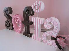 Nome de menina para decorar o quarto.. lindo! #letrasecompanhia