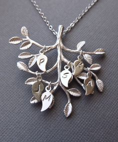 Personalized Family Tree Necklace Initial Necklace
