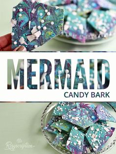 Easy DIY mermaid candy bark idea