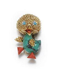 GEM-SET AND DIAMOND BROOCH, VAN CLEEF & ARPELS, 1960S - Sotheby's
