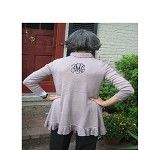 Monogrammed woman's ruffled sweater (from mostlymonograms.com)