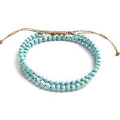 Wakami - dubbelt #armband, #turkost med detaljer i #koppar - bara 75:- från #Masomenos