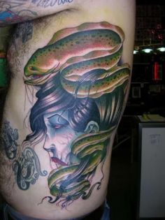 Eel Woman by Derek Noble. I LOVE Derek Noble! I was fortunate enough to meet him and get tatted by him!