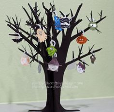 #CTMH #Close to My Heart Halloween Tree Decoration September Workshop